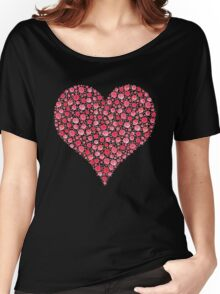 Watercolor Rose Heart Women's Relaxed Fit T-Shirt