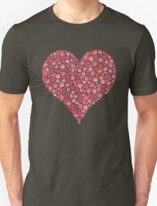Watercolor Rose Heart Unisex T-Shirt