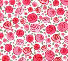 Red Rose Heart Hoodie Sticker