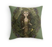 Lady of the Woods Throw Pillow