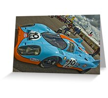 1970 Porsche 917 Greeting Card