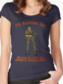 I'd Rather Be Killing Communists, Reagan Style Women's Fitted Scoop T-Shirt