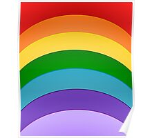Colours Of The Rainbow Pattern Poster