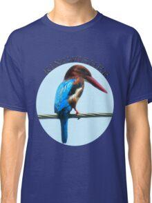 <º))))><KINGFISHER TEE SHIRT-PILLOWS-TOTE BAG-BOOK ECT<º))))><      Classic T-Shirt