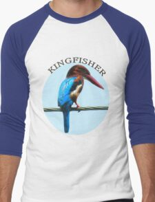 <º))))><KINGFISHER TEE SHIRT-PILLOWS-TOTE BAG-BOOK ECT<º))))><      Men's Baseball ¾ T-Shirt