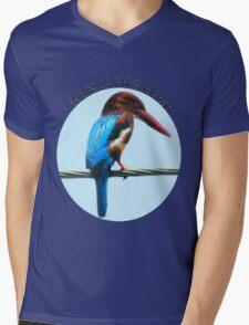 <º))))><KINGFISHER TEE SHIRT-PILLOWS-TOTE BAG-BOOK ECT<º))))><      Mens V-Neck T-Shirt