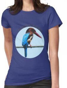 <º))))><KINGFISHER TEE SHIRT-PILLOWS-TOTE BAG-BOOK ECT<º))))><      Womens Fitted T-Shirt