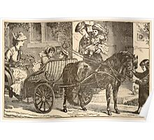 Five Mice in a Mouse Trap Laura Elisabeth Howe Richards and Kate Greenaway 1881 0185 The Pony Cart Poster