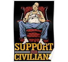 Support Our Civilians Poster