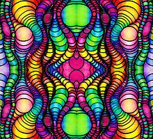 Colorful Tube Worms in Symmetry by Nalinne Jones