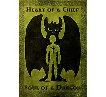 Heart of a Chief, Soul of a Dragon Photographic Print