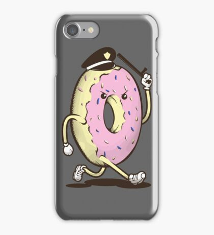 Donut Run From The Law iPhone Case/Skin