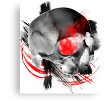 Inverted Skull Trash Polka Canvas Print