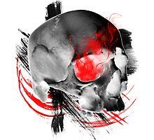 Inverted Skull Trash Polka Photographic Print