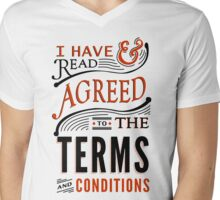 Terms And Conditions Mens V-Neck T-Shirt