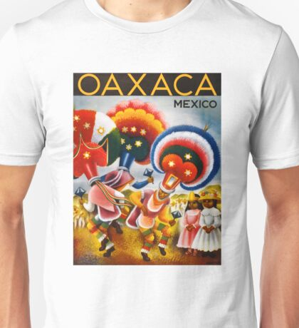 Oaxaca Mexico Vintage Travel Poster Restored Unisex T-Shirt