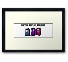 Bisexual Timelord and Proud Framed Print