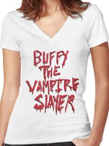 Buffy the Savior Women's Fitted V-Neck T-Shirt
