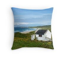 Another angle on Whitepark Bay, Antrim, Northern Ireland Throw Pillow