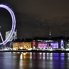 London eye and the County hall by Shehan Fernando