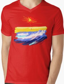 BEACH T SHIRT Mens V-Neck T-Shirt