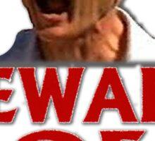 Beware of Barking Man Sticker
