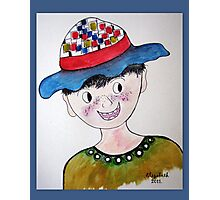 The boy with the hat Photographic Print