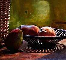 Pears in Morning Light - Mixed media by Larry Costales
