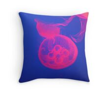 Bright Flourescent Jellyfish Throw Pillow