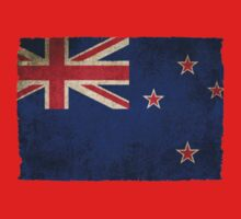 Old and Worn Distressed Vintage Flag of New Zealand Kids Clothes