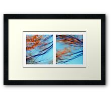 Autumn Impressions - Diptych #2 Framed Print