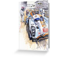 Lola Aston Martin LMP1 Gulf Team 2009 Greeting Card