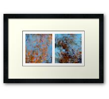 Autumn Impressions - Diptych #3 Framed Print