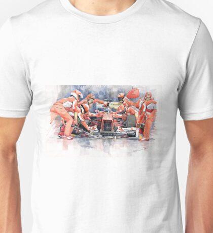 Ferrari F 2012 Fernando Alonso Pit Stop Unisex T-Shirt