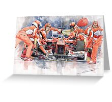 Ferrari F 2012 Fernando Alonso Pit Stop Greeting Card