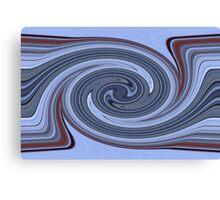 Stripe abstract swirl Canvas Print