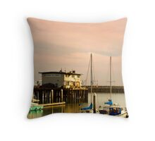 Pillar Point Harbour Throw Pillow