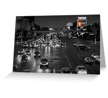 Las Vegas Boulevard at Night Greeting Card