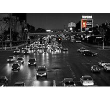 Las Vegas Boulevard at Night Photographic Print