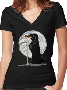 Don't Fear the Weiner Women's Fitted V-Neck T-Shirt