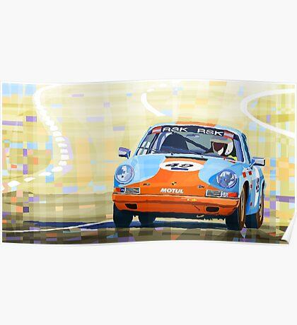 Porsche 911 S  Classic Le Mans 24  Poster