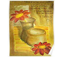 Vase and flower Poster
