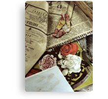 14.4.2010: Roses and Memories Canvas Print