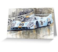 Porsche 917 LH 24 Le Mans 1971 Rodriguez Oliver Greeting Card