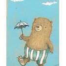 Bear on a tightrope by Susan Mitchell