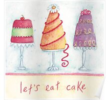 Let's eat cake Poster