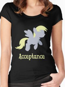 Derpy - Acceptance Women's Fitted Scoop T-Shirt