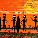 """Ned Kelly Gang's Surf Safari"" Original Australian Acrylic Painting SOLD by EJCairns"