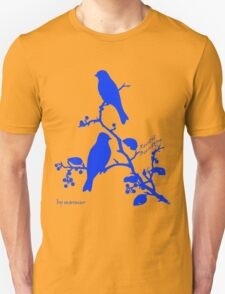 Blue Rustic Bunting on a branch T-Shirt