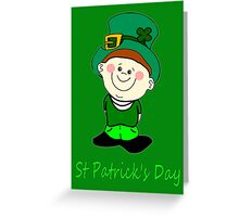 A Little Man Ready for St Patrick's Day T-Shirt, etc. design Greeting Card